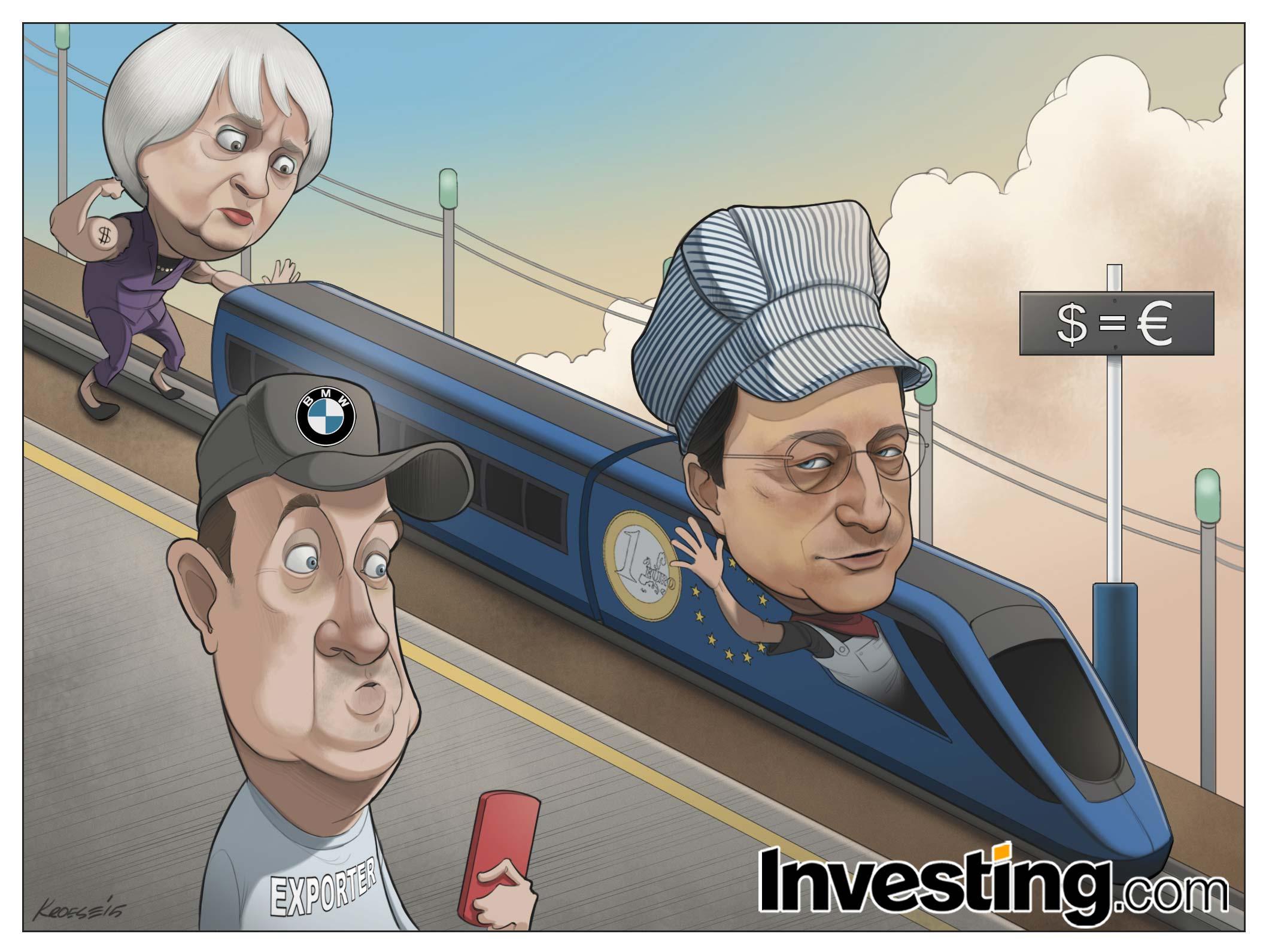 Η ΕΚΤ ξεκινάει ποσοτική χαλάρωση.