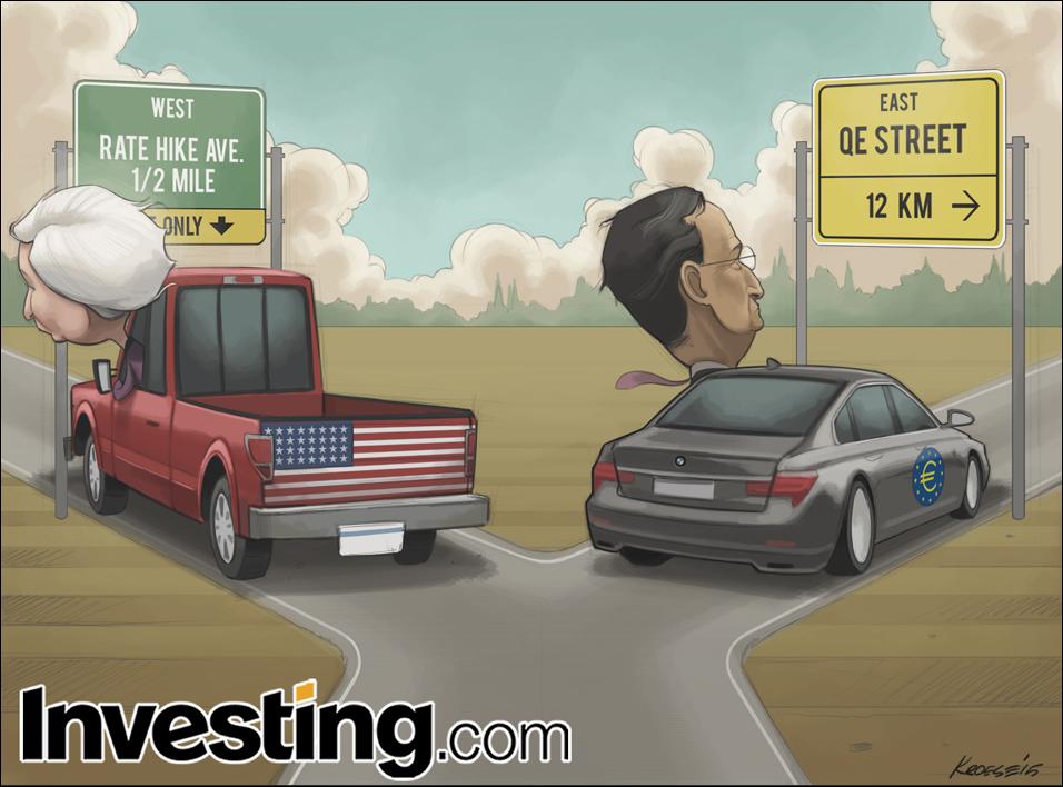 Με την Fed να αποκλίνει, η ΕΚΤ κυριαρχεί στη νομισματική αγορά